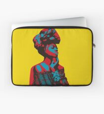 African woman red & blue Laptop Sleeve