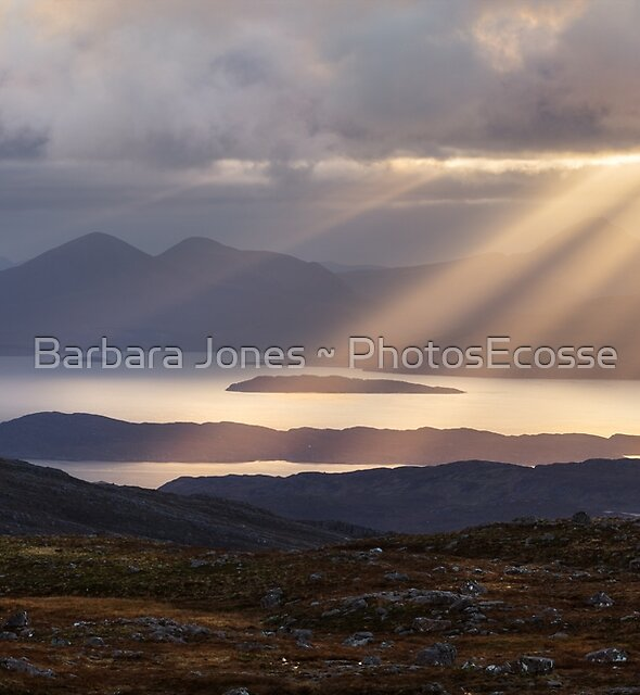 Applecross. Bealach na Ba. Summit View Sunbeams. North Coast 500.  Scotland. by PhotosEcosse