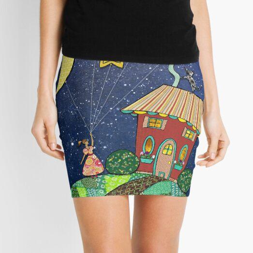 Celestial Balloons Mini Skirt