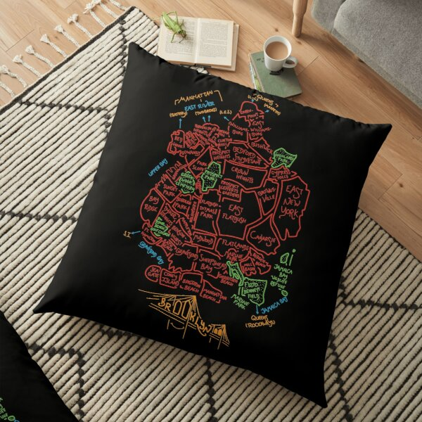 Brooklyn - Bright Floor Pillow