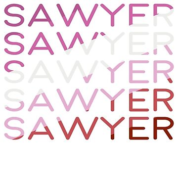 Sawyer | Lesbian flag colors by DamnSanvers