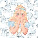FLOWER CROWN by JuditMallolArt