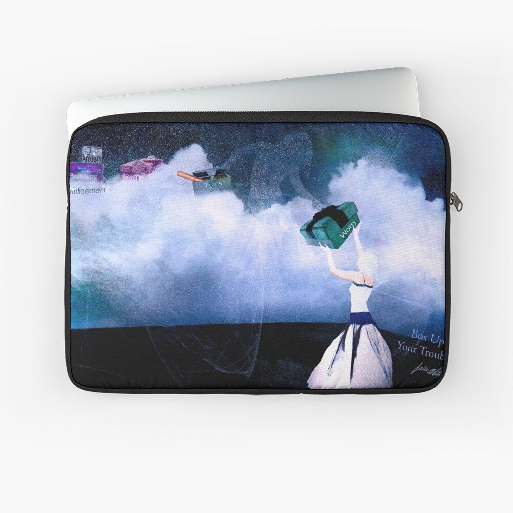 Box Up Your Troubles Laptop Sleeve