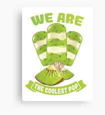 Funny Cool Cream Pop t-shirt  Canvas Print