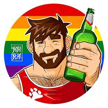 ADAM LIKES BEER - GAY PRIDE EDITION by bobobear