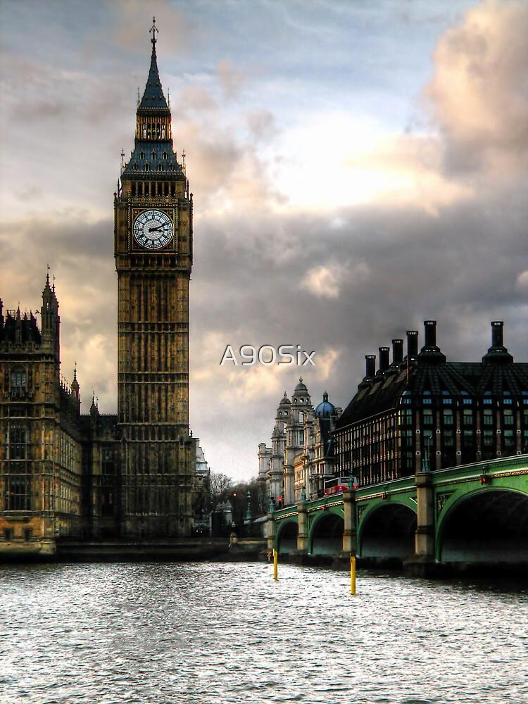Big Ben & Westminster Bridge by A90Six