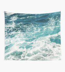 Blaue Meereswellen Wandbehang
