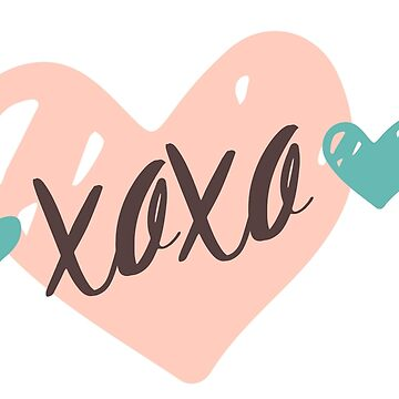 "Original Hand-drawn ""XOXO"" Inspirational Design by baddawge"