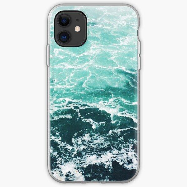 Blue Ocean Summer Beach Waves iPhone Soft Case