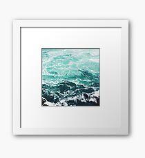 Blauer Ozean Sommer Strand Wellen Gerahmtes Wandbild
