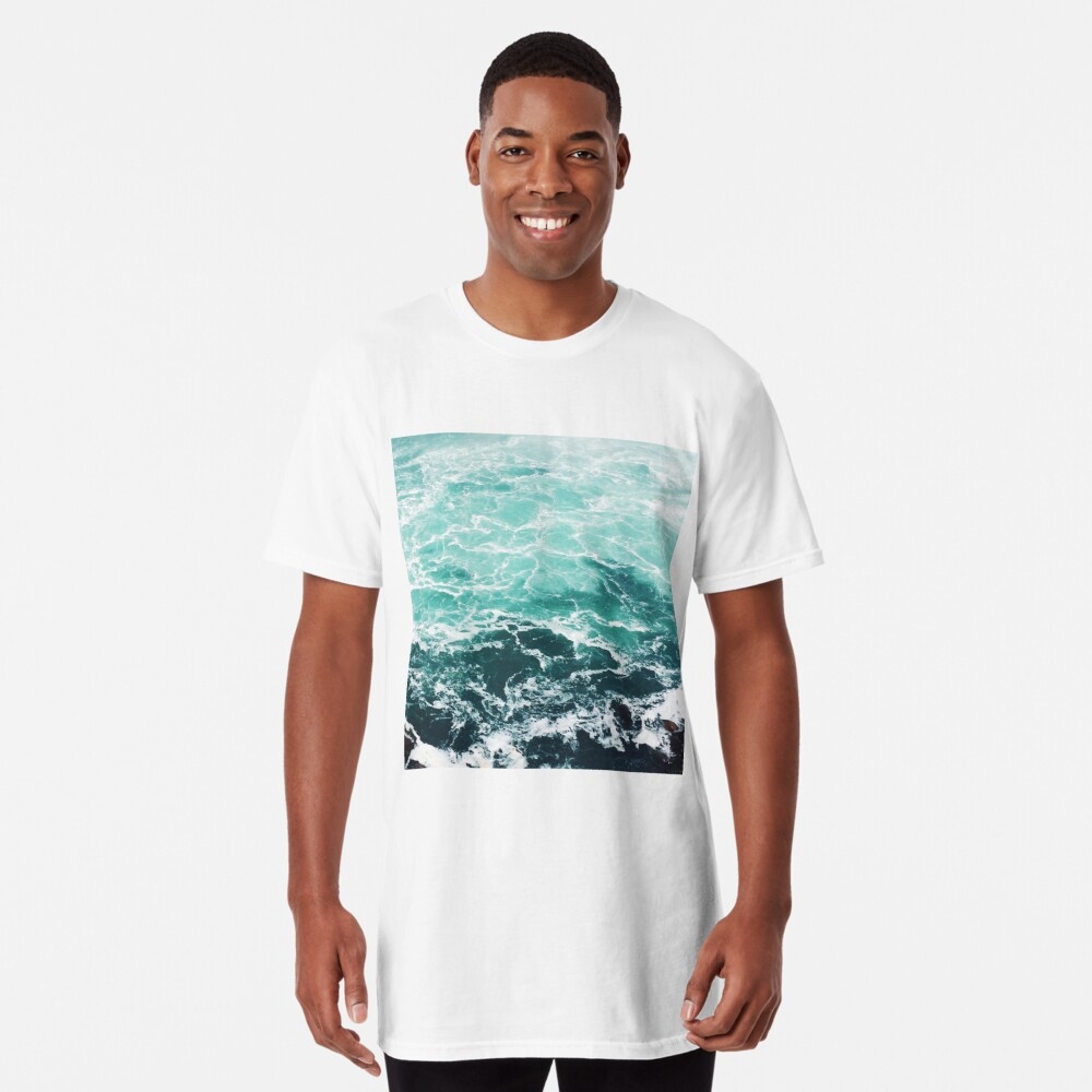 Blauer Ozean Sommer Strand Wellen Longshirt