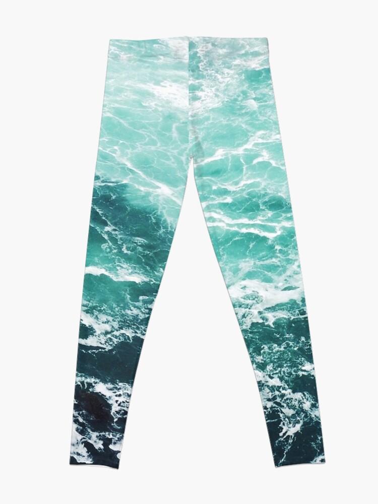 Alternative Ansicht von Blauer Ozean Sommer Strand Wellen Leggings