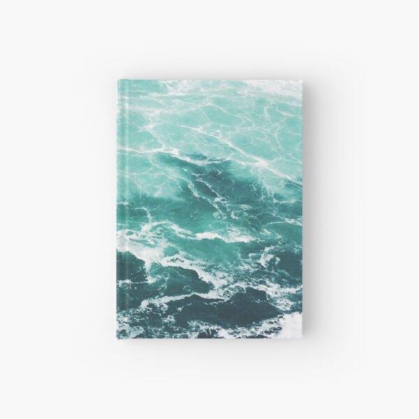 Blue Ocean Summer Beach Waves Hardcover Journal