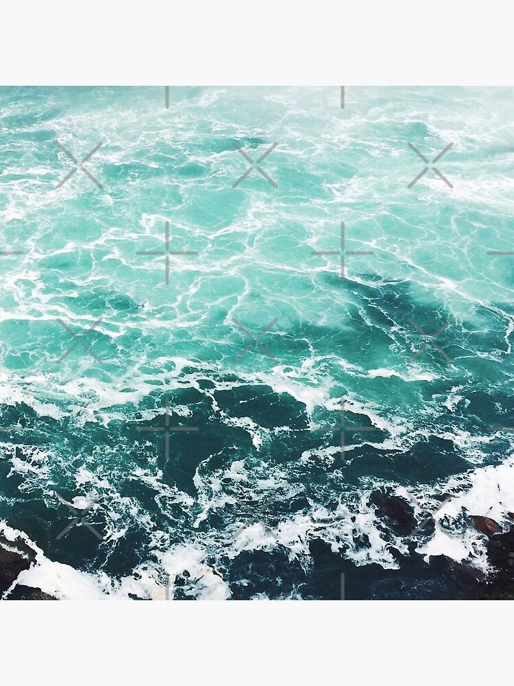 Blauer Ozean Sommer Strand Wellen von AlexandraStr
