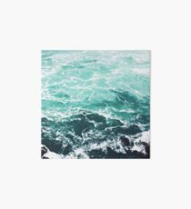 Blue Ocean Summer Beach Waves Art Board