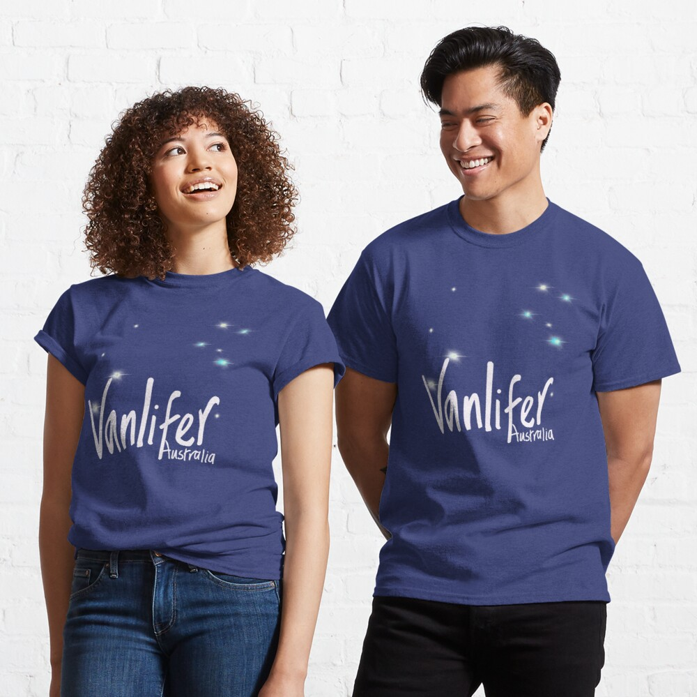 Vanlifer Australia with Southern Cross - choose your colour! Classic T-Shirt