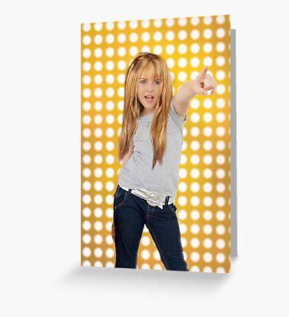 Hannah Montana Greeting Card
