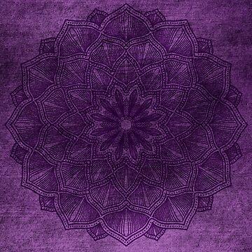 Purple Mandala by MeowntainCafe