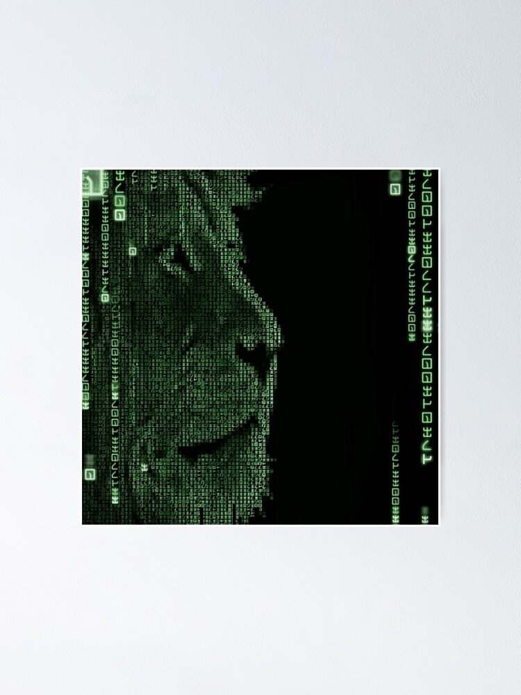 Alternate view of The Matrix Lion Poster