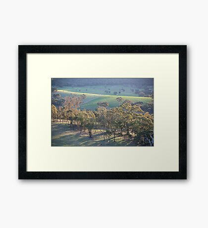 the colours of afternoon light Framed Print