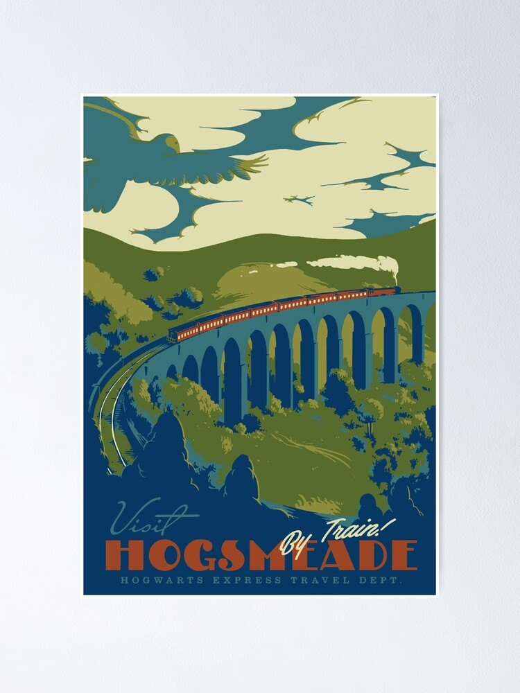 Alternate view of Visit Hogsmeade Poster