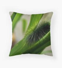 Fluffy Caterpillar Throw Pillow