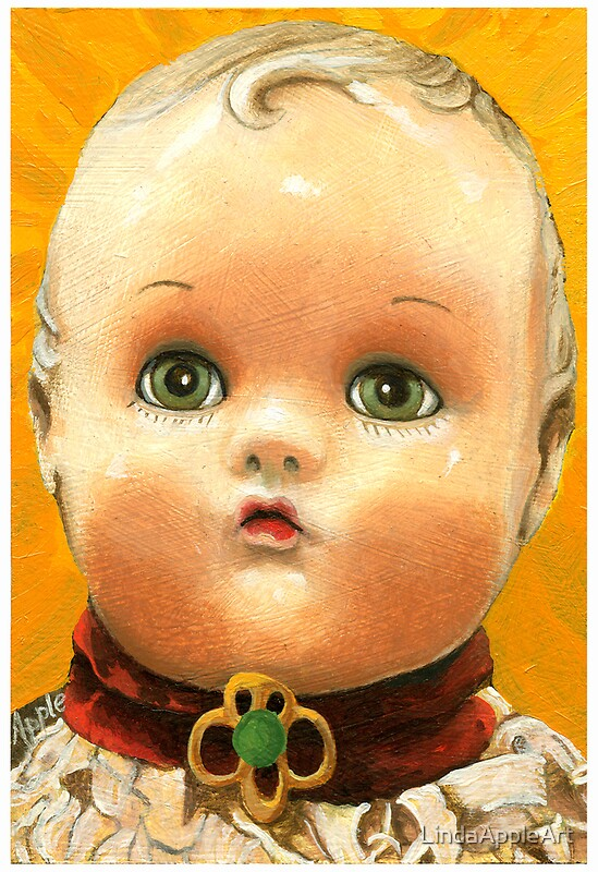 Quot Antique Doll Head Painting Quot By Lindaappleart Redbubble