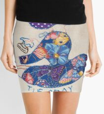 Tuesday Ironing Butterfly Bonnet Lady Mini Skirt