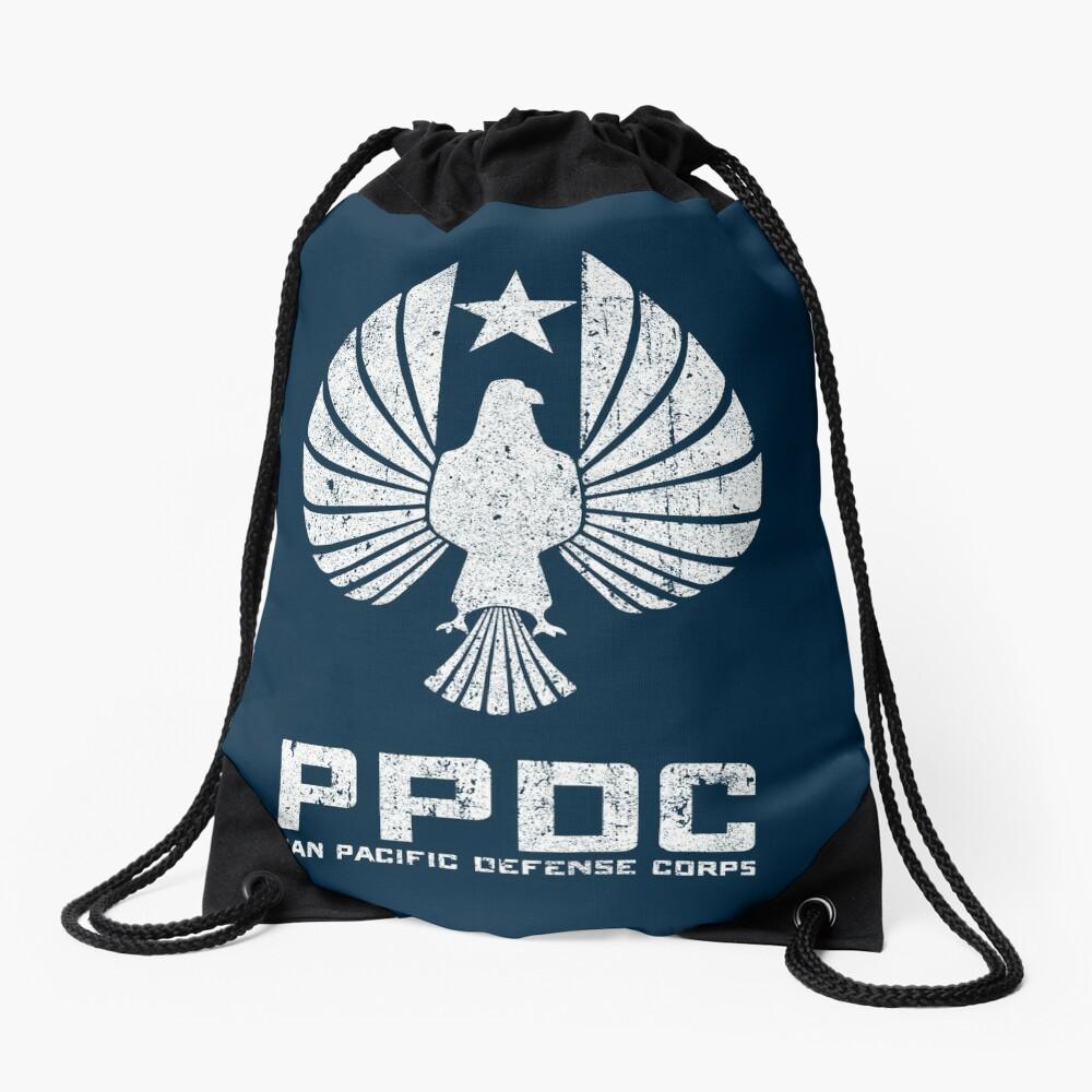Pan Pacific Defense Corps Sigil (White Variant) Drawstring Bag