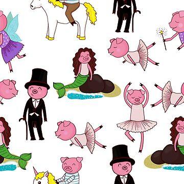 pig pattern by Marishkayu