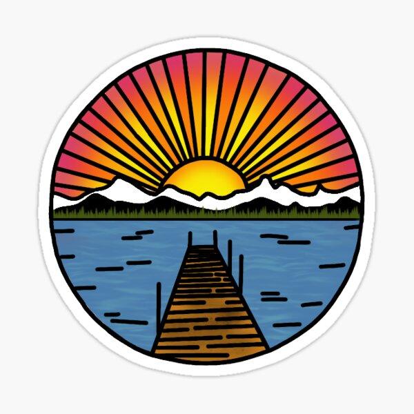 Sunset Dock Sticker