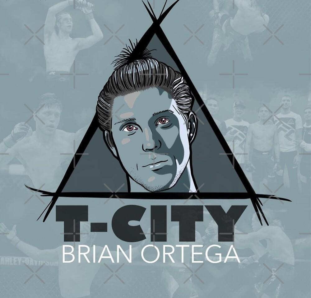 Brian Ortega Ufc Fighter T City art by Desire-inspire