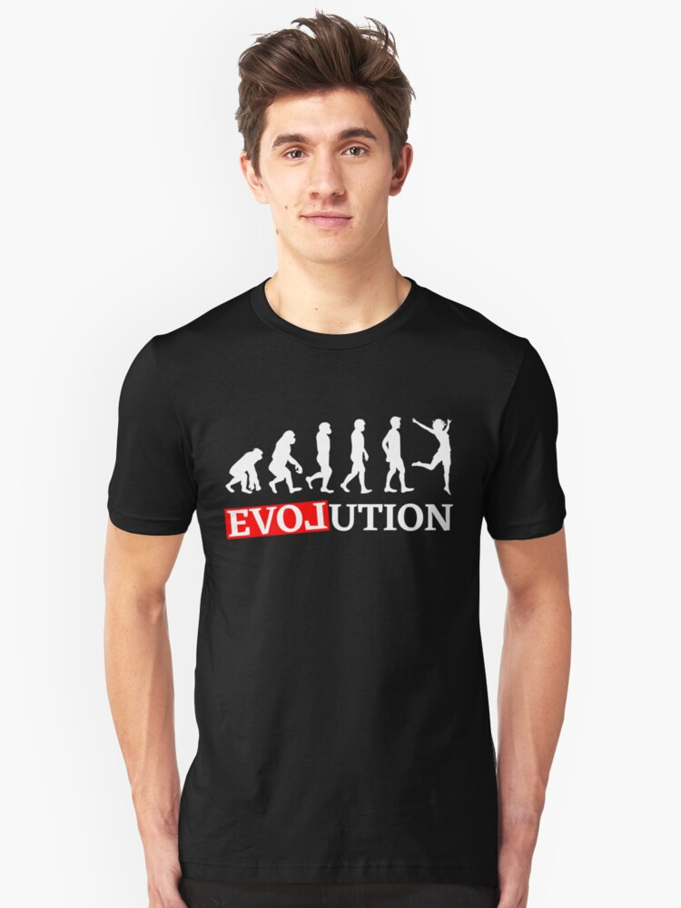 Evolution with love dancing woman T-shirt Unisex T-Shirt Front