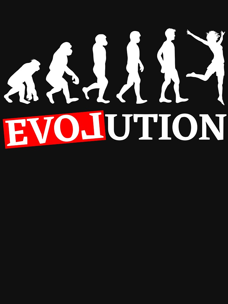 Evolution with love dancing woman T-shirt by peter2art