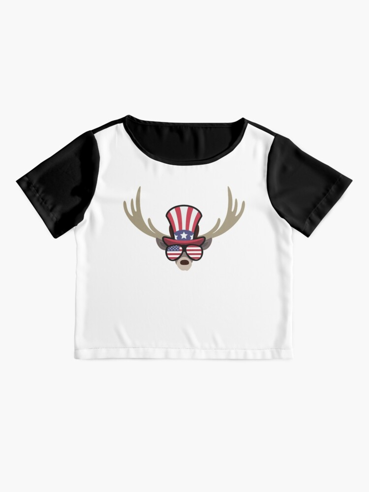 Vista alternativa de Blusa Deer Happy 4th Of July