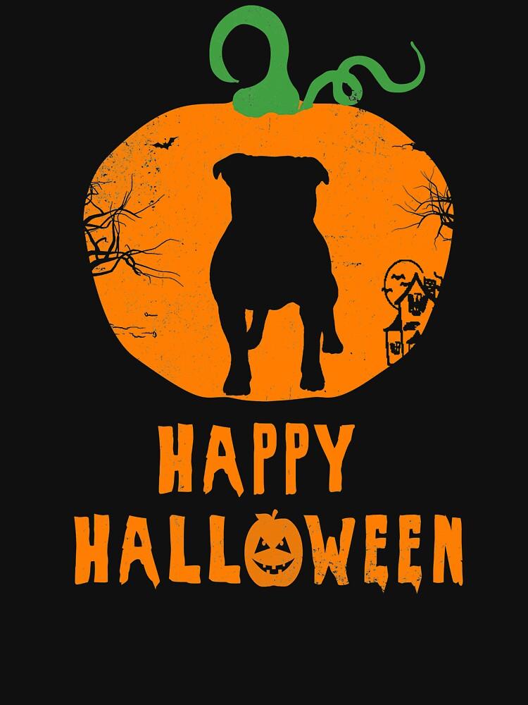 Happy Halloween American Bulldog by 4tomic