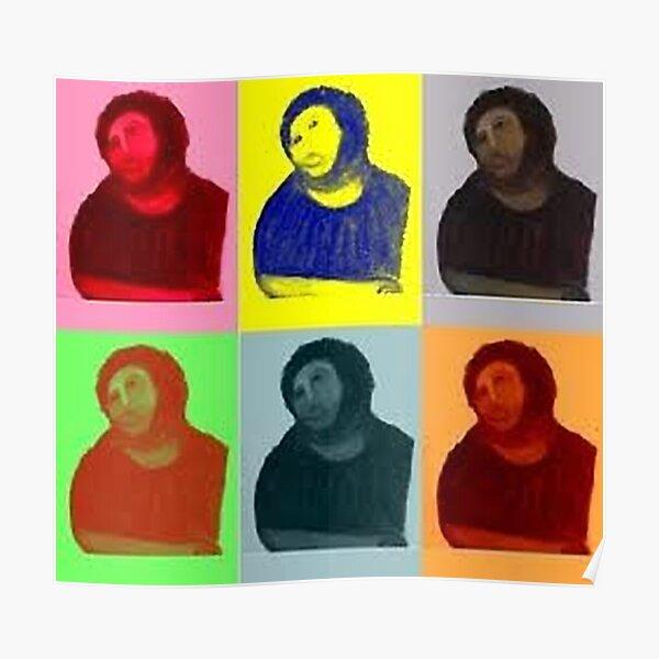Ecce Homo Warhol Pop Art Style Poster