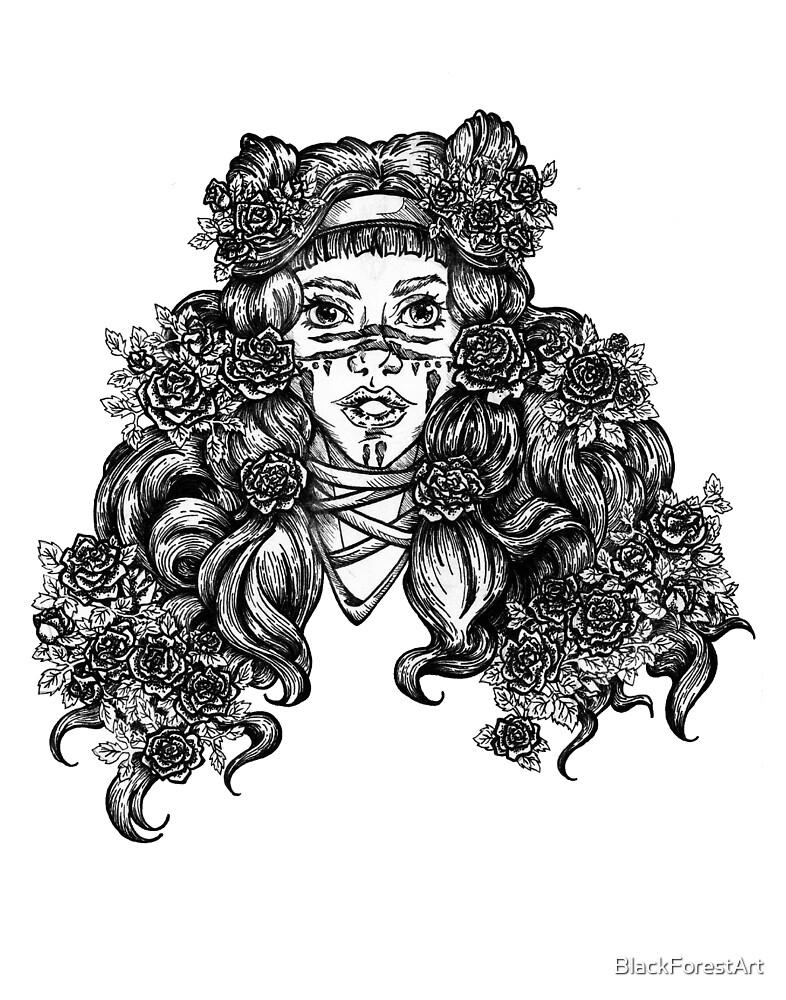 Flower Maiden 1  by BlackForestArt
