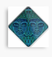 Shades Of Blue Peace Metal Print