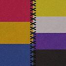Pansexual Non-Binary Leather Flag by LiveLoudGraphic