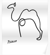Pablo Picasso Camel Artwork T Shirt, Reproduction Sketch Poster