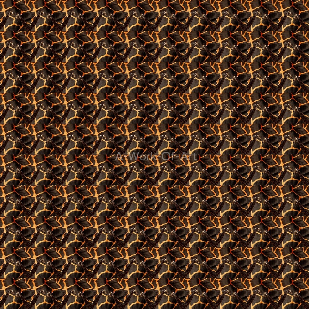 Brown And Orange Exotic Giraffe Pattern, by A-Work-Of-Art
