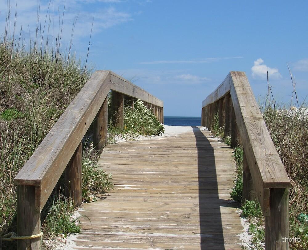 Beach Access-Sand, Sea and Sky by choffb