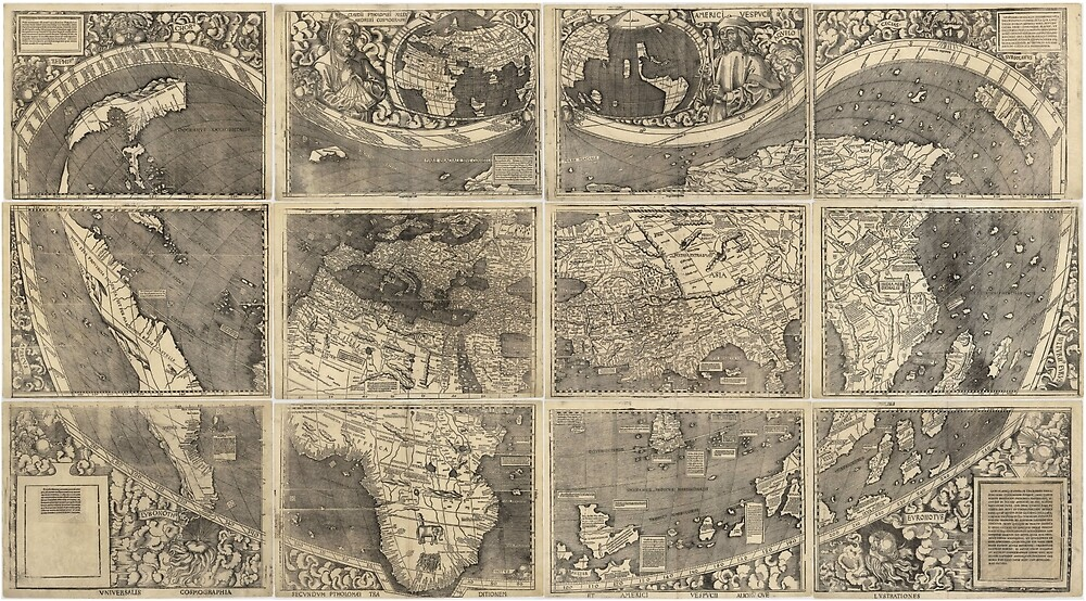 Waldseemüller Map (first map to use the name 'America') by ArtHistorical