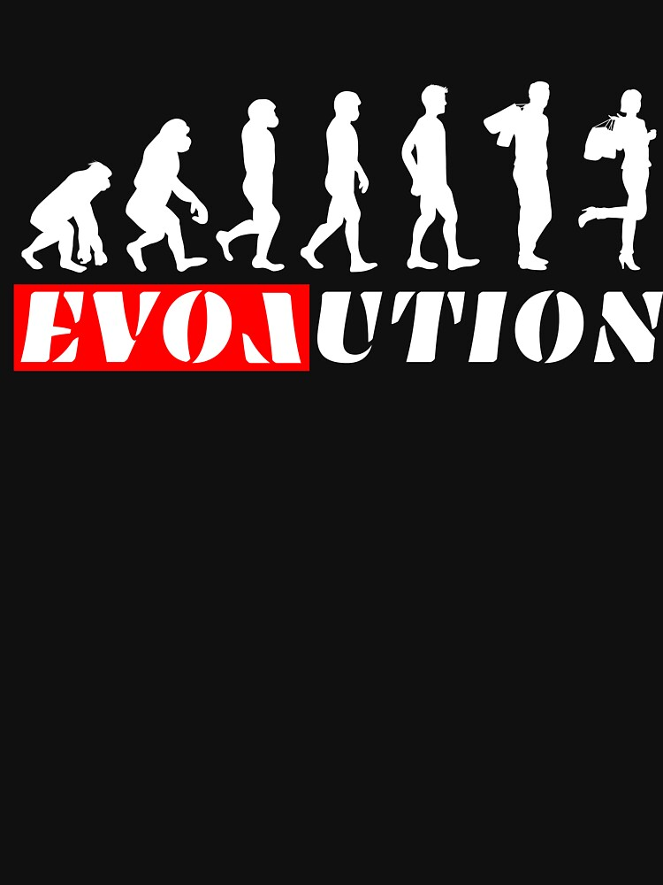 Evolution with Love Shopping Women's t-shirt by peter2art