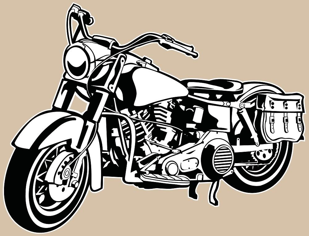 Chopper / motorcycle 10_black white by RollOn
