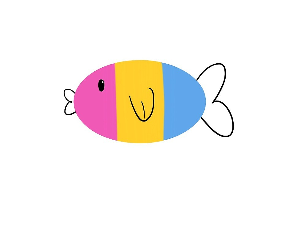Pansexual Pride Fish by 1smallpiney