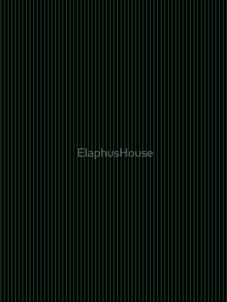 Black with Dark Green pinstripes by ElaphusHouse