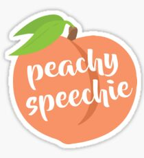 Peachy Speechie Sticker