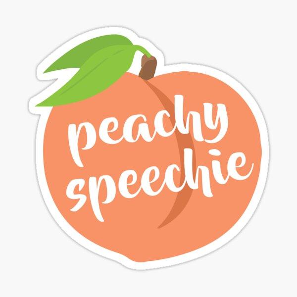 Peachy Speechie Sticker